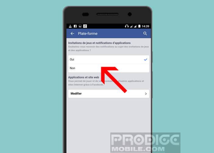 Bloquer les invitations aux jeux sur Facebook