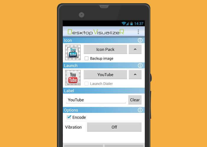 L'appli Desktop VisualizeR permet de créer des raccourcis à partir de vos images