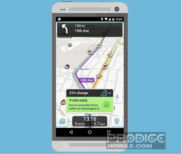 Signaler un embouteillage via la commande vocale de Waze