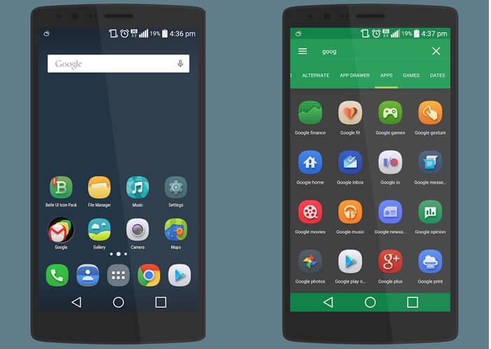 Changer les icônes pour personnaliser l'interface d'Android