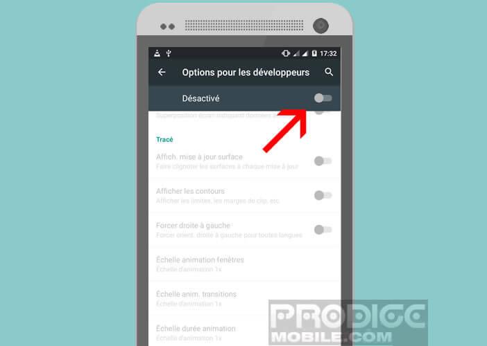 Activer les options du développeur sur Android
