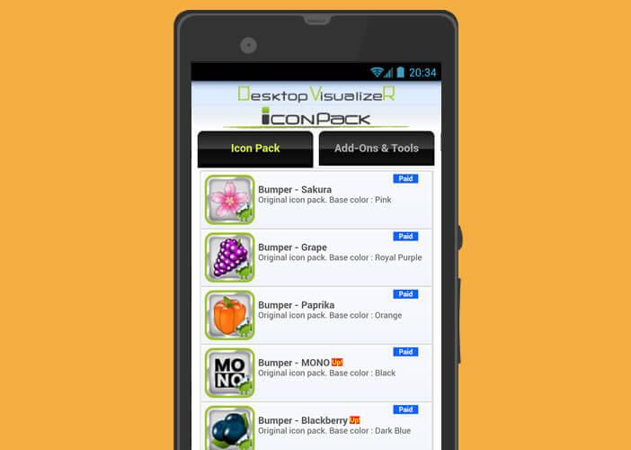 Pack d'icônes pour modifier l'apparence du bureau Android
