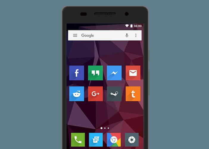 Des icônes flat design pour embellir l'écran de votre mobile