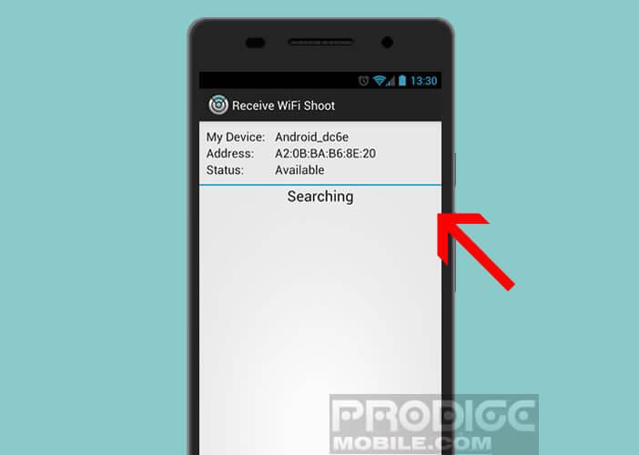 Partager des fichiers entre deux appareils Android avec Wi-Fi shoot