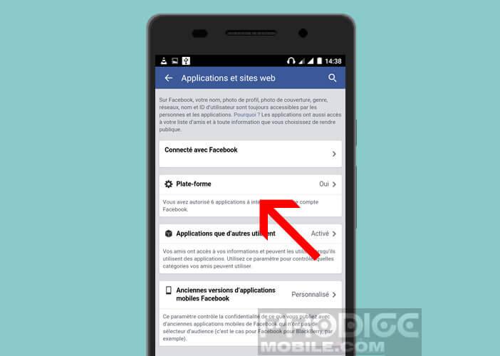 Autorisation de la plate-forme Facebook