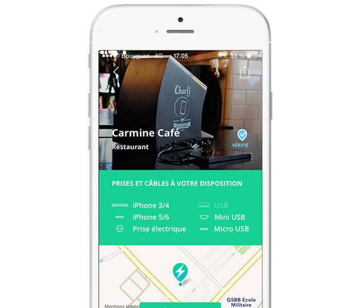 Géolocaliser sur votre iPhone les points de recharge (cafés, restaurants, gares, cinéma)
