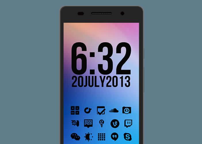 Icônes minimalistes pour portable Android