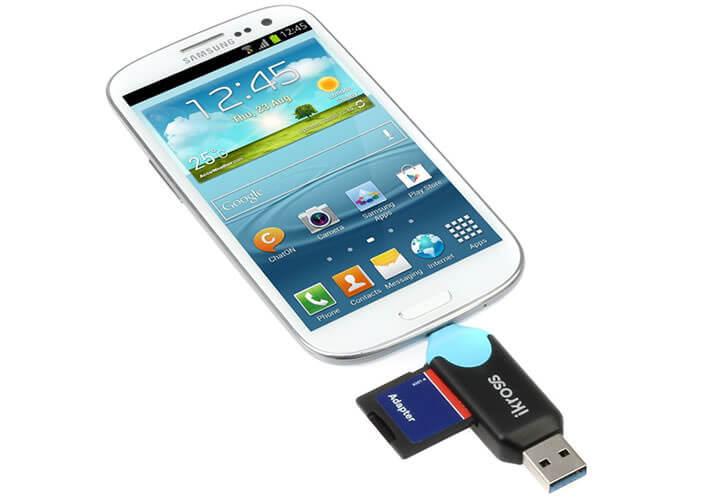 Adaptateur USB OTG pour mobile dépourvu de slot microSD