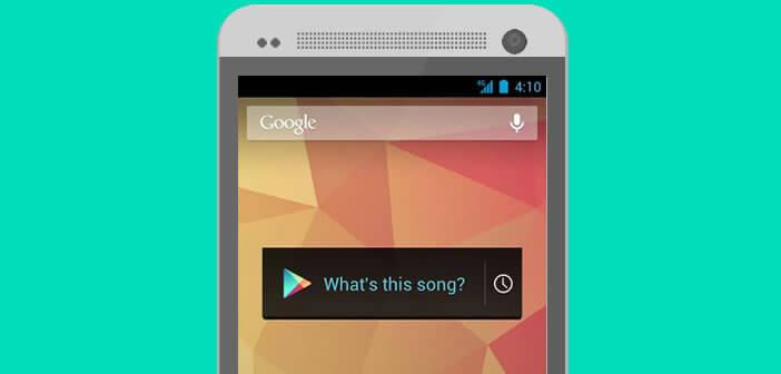 Appli de reconnaissance musicale pour Android