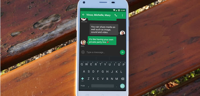 Application Chomp SMS pour smartphone Android
