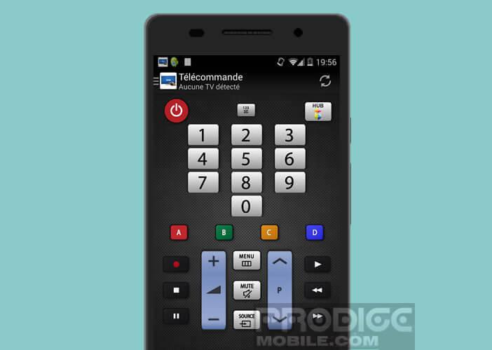 Contrôler une télévision Samsung depuis un smartphone