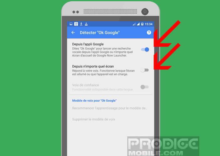 Activer la détection de la fonction Ok Google depuis n'importe quel écran