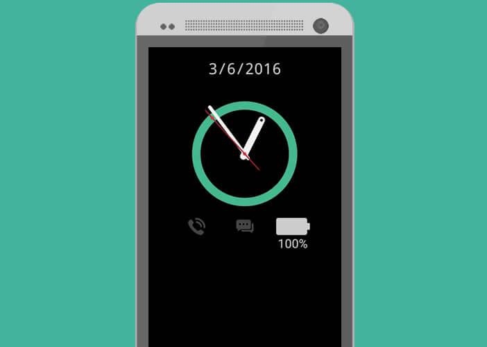 Laisser l'écran de veille de son mobile toujours allumé
