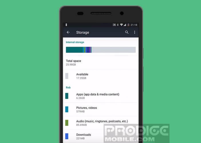 L'espace mémoire sur Android est devenu insuffisant