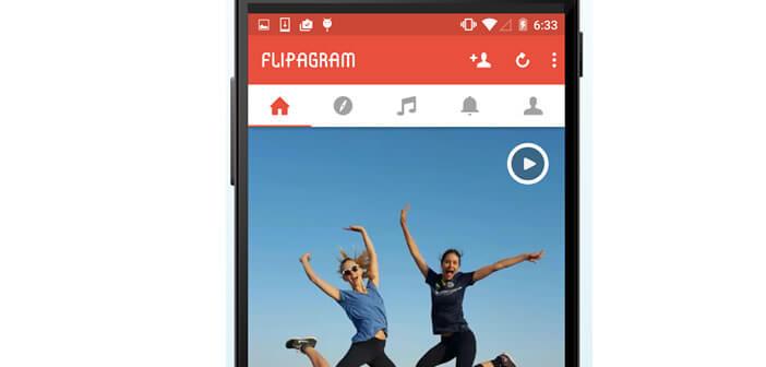 Flipagram diaporama vidéo sur Android