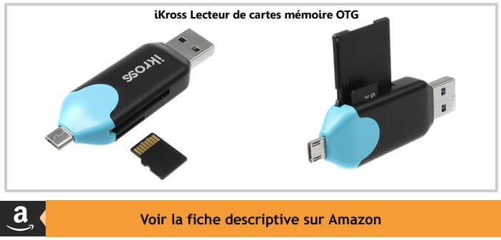 iKross lecteur de carte mémoire pour mobile et tablette Android