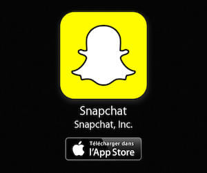 Installer Snapchat sur l'iPhone depuis l'App Store d'Apple