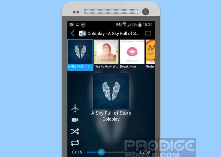 Lecteur du streaming musical gratuit pour Android