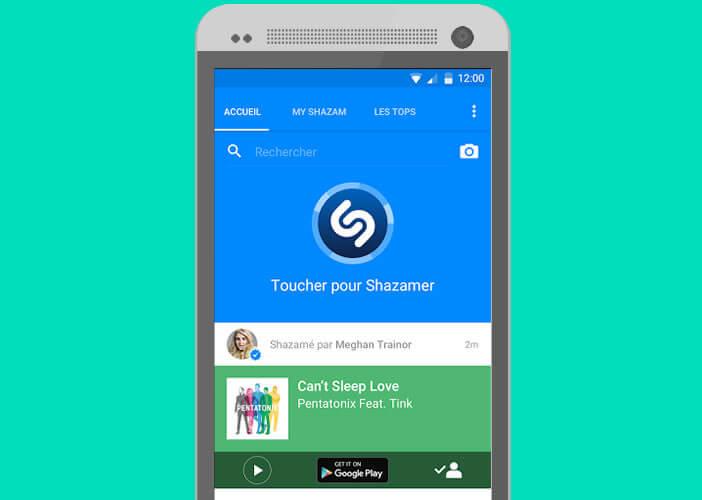 L'application Shazam permet d'identifier la musique qui passe autour de vous