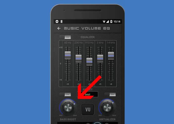 Amplificateur de basses pour la sortie casque du mobile