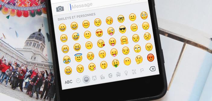 Insérer un emoji depuis le clavier de l'iPhone