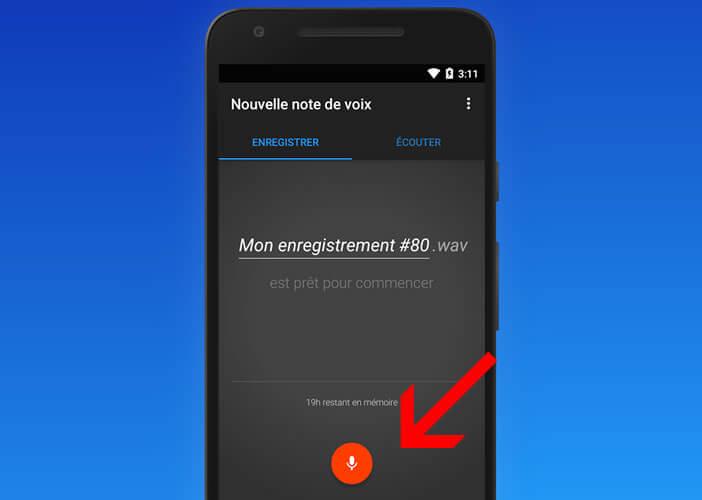 Enregistrer un son avec son téléphone Android