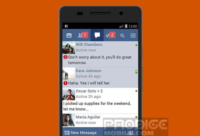 Facebook Lite nécessite moins de ressources système