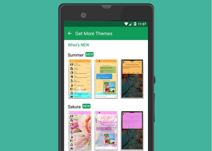 Choisir un thème dans la galerie de Chomp SMS