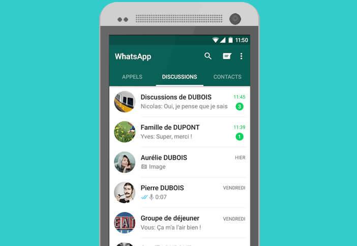Restaurer l'historique des discussions de WhatsApp