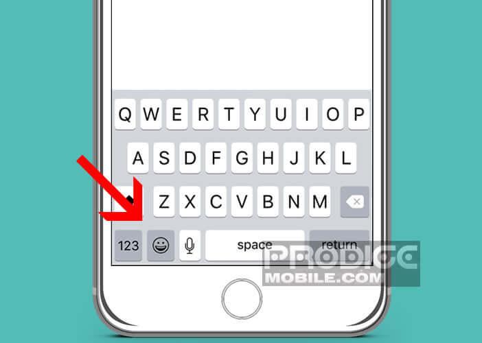 Insérer un emoji dans un SMS