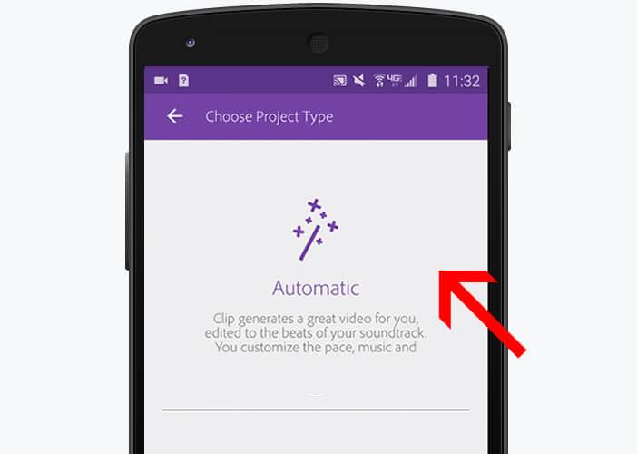 Sélectionnez le mode montage automatique de vidéos