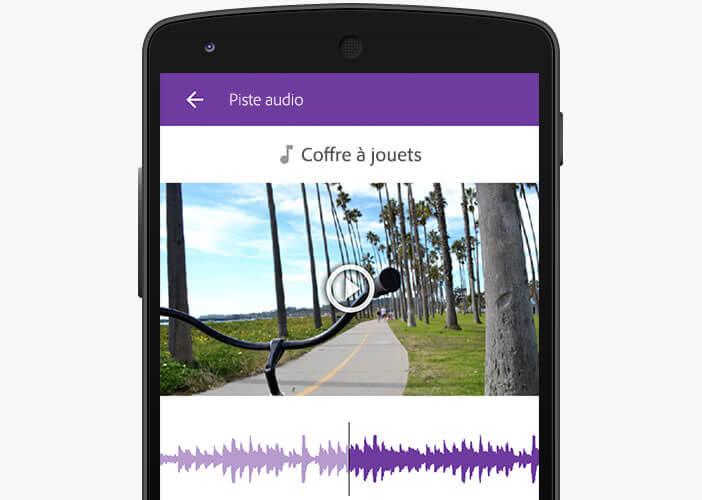 Modifier la piste audio de votre clip vidéo dans Premiere Clip