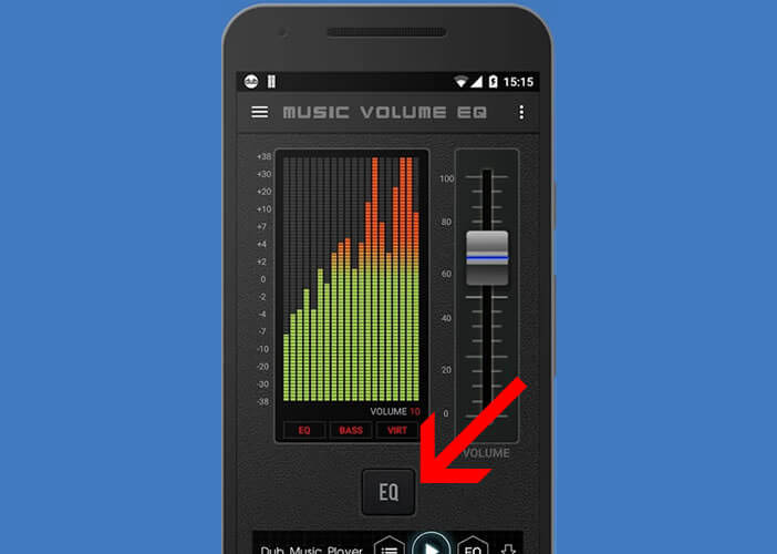 Activer le mode EQ sur l'application Music Volume EQ