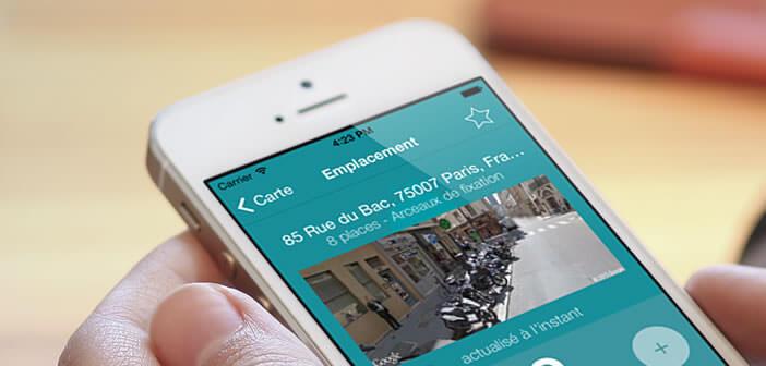 Trouver une place de parking gratuite pour son deux-roues avec un iPhone