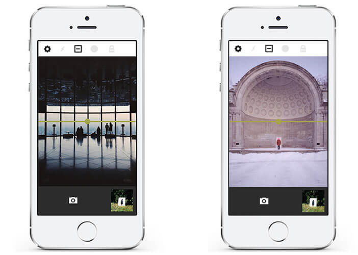 Prendre une photo depuis l'application VSCO Cam