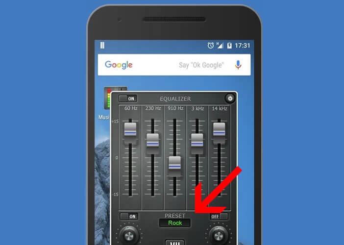 Sélectionner les préréglages de l'égaliseur audio pour Android