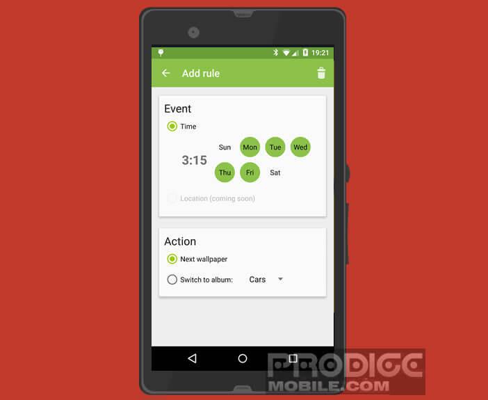 Modifier les règles de renouvellement du papier peint d'Android
