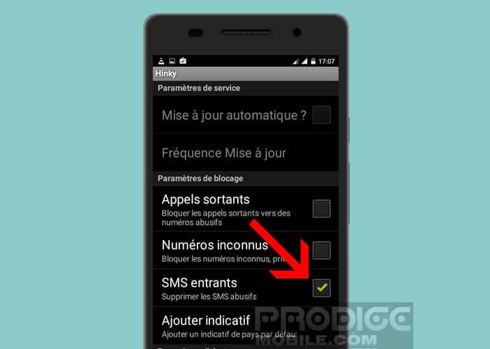 Supprimer automatiquement les SMS abusifs