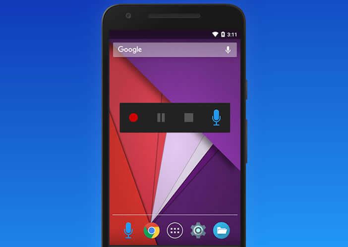 Contrôler vos enregistrements depuis le widget placé sur le bureau Android
