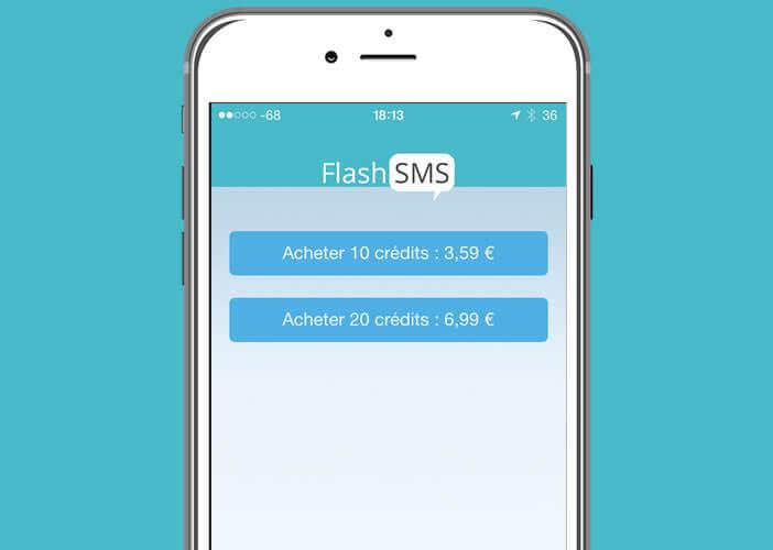 Acheter des crédits pour l'application Flash SMS