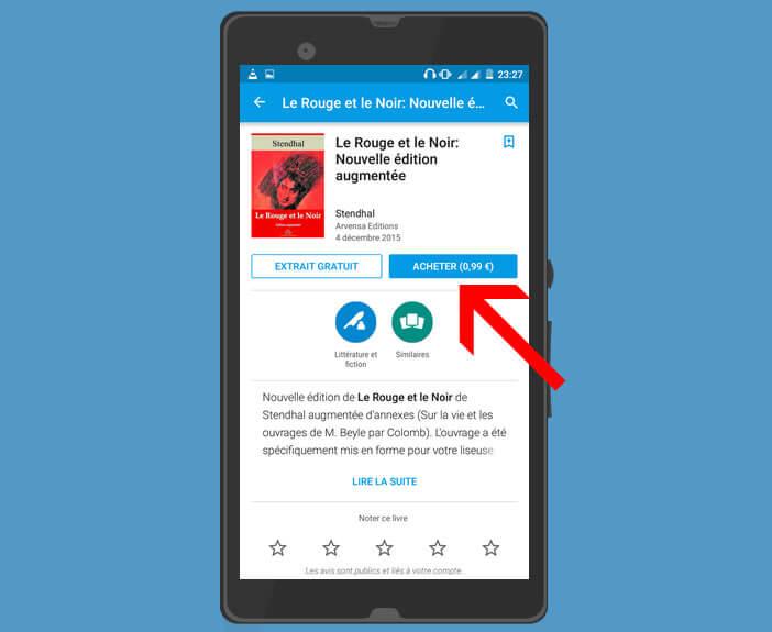 Acheter un ebook sur le Play Store de Google