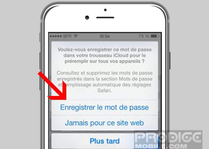 Enregistrer vos mots de passe de connexion directement depuis Safari