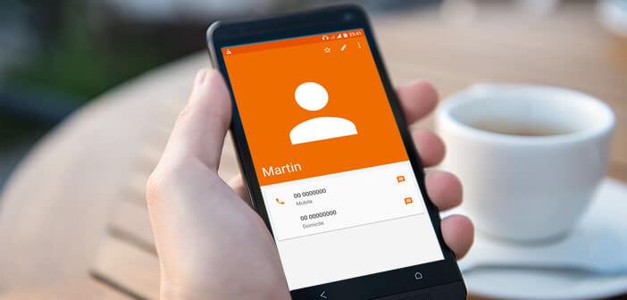 Envoyer les coordonnées d'un contact par SMS