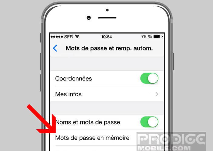 Gérer et modifier les mots de passe enregistrés dans l'iPhone