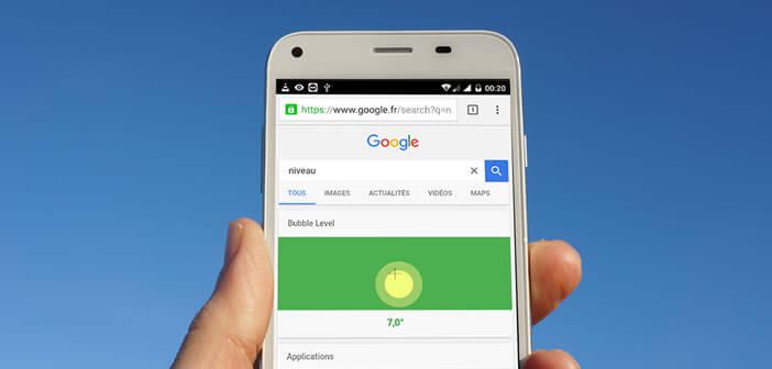 Fonction niveau à bulle de Google disponible sur les smartphones
