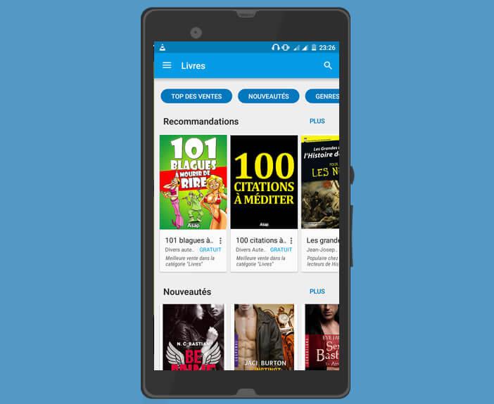 Play Livres la plateforme de téléchargement d'ebooks de Google