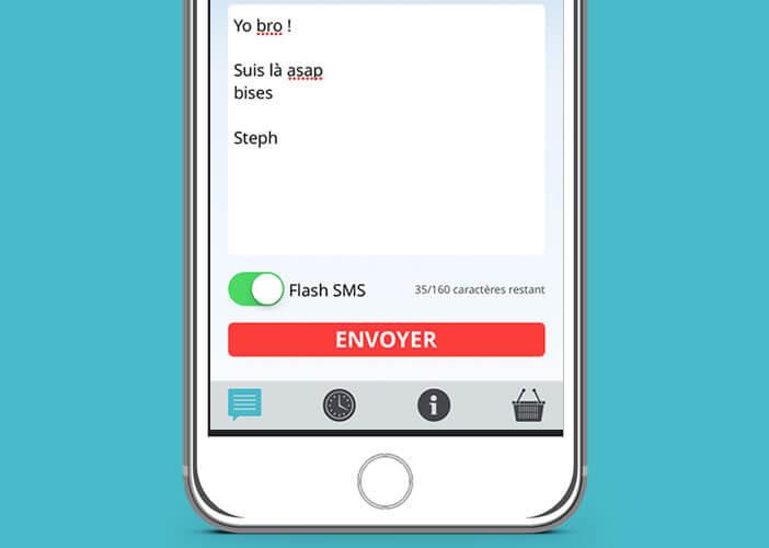 Les messages de type Flash SMS ne sont pas enregistrés dans la mémoire du mobile
