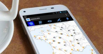 Application Meteo360 pour connaître le temps sur son mobile Android