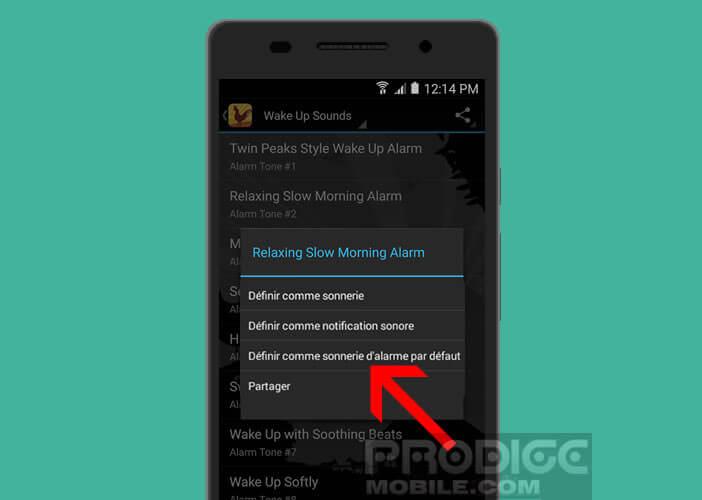 Modifier la sonnerie d'alarme par défaut du mobile