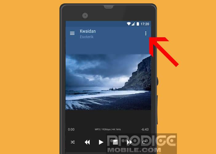 Sélectionnez le récepteur vidéo dans le menu de l'application BubbleUPnP